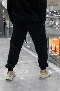 Штаны мужские на флисе Intruder спортивные теплые брюки черные