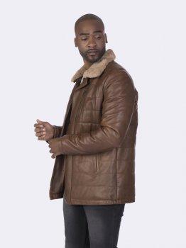 Кожаная куртка Giorgio di Mare Коричневая (GI4077602)