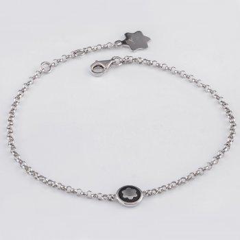 Серебряная цепочка на руку с цветочком cava.cool