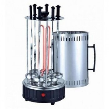 Электрошашлычница шашличниця Domotec BBQ на 6 шампурів 1000W