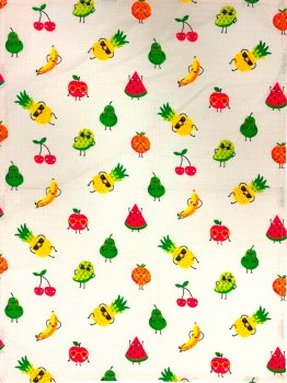 Вафельное полотенце Зоряне Сяйво Веселые фрукты 45х60 (911_Веселые фрукты)
