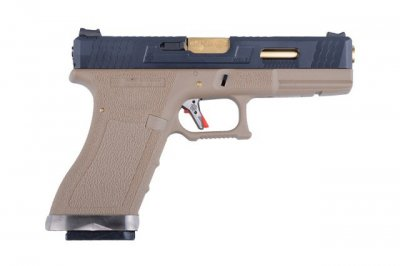 Пістолет WE Glock 17 Force pistol Metal Tan-Gold GBB (Страйкбол 6мм)