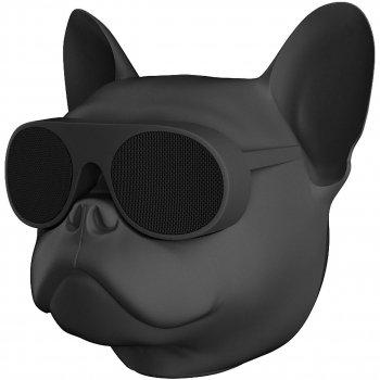 Бездротова Bluetooth колонка SUNROZ Aerobull Dog Chrome Black