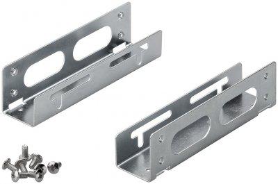 Деталь монтажна Goobay Монтажна рама (HDD) 3.5-5.25 салазки HDDпанель металік(75.07.3039)