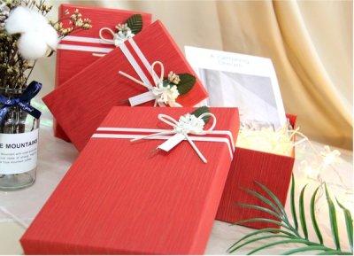 Набір подарункових коробок Ufo картонних 3 шт. Червоних (12351-061 Набір 3 шт. RED прям.)