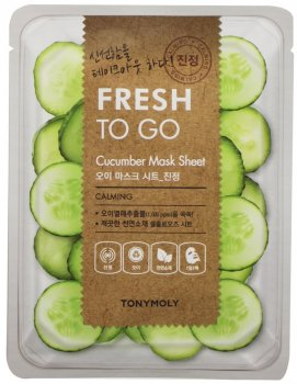 Тканевая маска Tony Moly Fresh To Go Cucumber Mask Sheet Calming с огурцом 20 г (8806194032771)