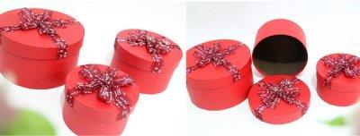 Набір подарункових коробок Ufo картонних 3 шт. Червоних (80303-001 Набір 3 шт. RED круг.)
