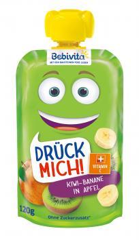 Фруктове пюре Bebivita Pouch Яблуко-банан-ківі, 120 г (283807)