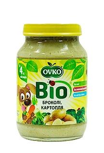 Пюре OVKO Брокколі з картоплею, 190 г (085681)