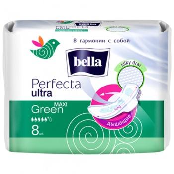 Гигиенические прокладки Bella Perfecta Ultra Maxi Green, 8 шт. (018578)