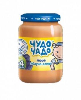 Пюре Чудо-чадо Яблоко и слива с сахаром, 170 г (013906)
