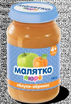 Пюре Малятко Яблуко-абрикос, 180 г (010457)