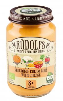 Пюре Rudolfs Овочевий крем-суп з сиром, 190 г (264881)