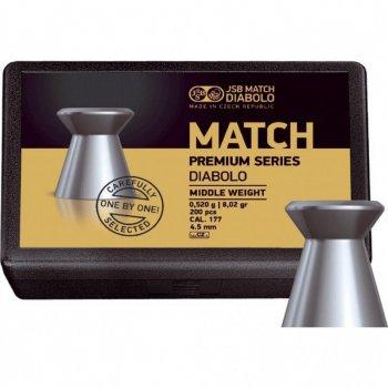 Пули пневматические JSB Match Premium MW, 200 шт/уп, 0,52 г, 4,49 мм