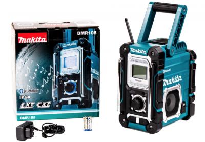 Акумуляторний радіоприймач Makita DMR 108 BLUETOOTH + Блок живлення