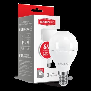 Лампа світлодіодна Maxus F 6 Вт G45E14 220 В 4100 ДО матова