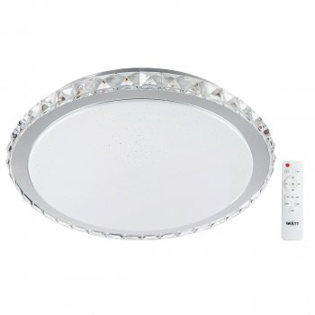 Світильник світлодіодний V-WATT Крісті 75W R пульт ДУ 1 (Настінно-стельовий, Люстра LED)