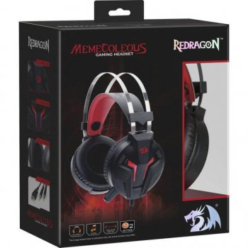 Навушники Redragon Memecoleous Black-Red Vibration (75096)