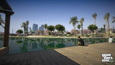 GTA V Grand Theft Auto V Premium Edition (PS4, русские субтитры)