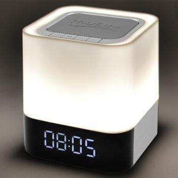 Портативная колонка ночник c часами Musky MAGIC, белая подсветка.