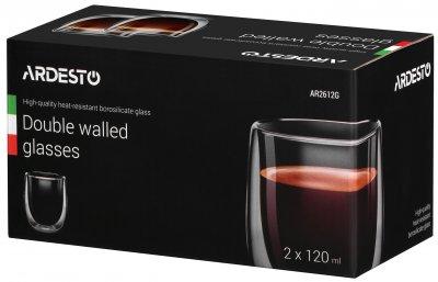 Набор чашек Ardesto для американо с двойным дном 120 мл 2 шт (AR2612G)