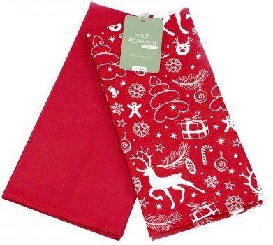 Набор кухонных полотенец Home Line Новый год 45х60 Красный (2600001592214)