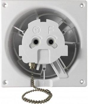 Вытяжной вентилятор AirRoxy dRim 125 PS BB Белый матовый, с шнурковым выключателем.