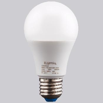 Світлодіодна лампа Ilumia 12Вт, цоколь Е27, 4000К (нейтральний білий), 1200Лм (005)