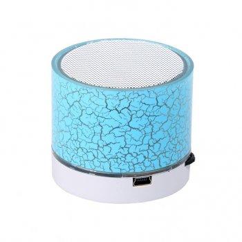 Портативная светящейся MP3 колонка VIVO Bluetooth V3.0 с FM радио, Голубая