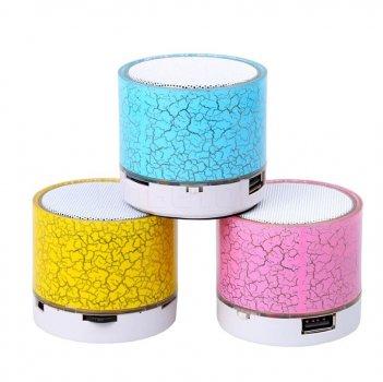 Портативная светящейся MP3 колонка VIVO Bluetooth V3.0 с FM радио, Розовая