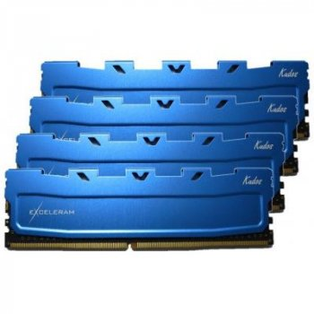 Модуль пам'яті для комп'ютера DDR4 64GB (4x16GB) 2133 MHz Blue Kudos eXceleram (EKBLUE4642115AQ) 4,
