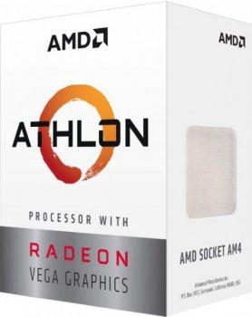 Процесор CPU AMD Zen Raven Ridge Athlon 240GE 2Core/4Threads (3,5 GHz,4MB,35W,AM4) (YD240GC6FBBOX) AM4 BOX