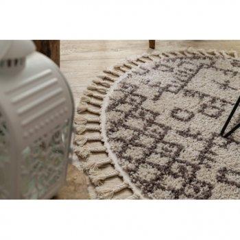 Килим Лущув Berber 120 см кремовий круглий (GR2838)
