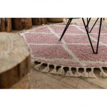 Килим Лущув Berber 160 см рожевий круглий (GR2832)