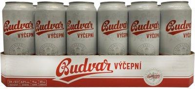 Упаковка пива Budweiser бочковое светлое фильтрованное 4% 0.5 л х 24 шт (8594403704983)