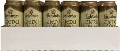 Упаковка пива Lielvardes ziedu laika ale светлое фильтрованное 5.1% 0.5 л х 24 шт (4750132003986)