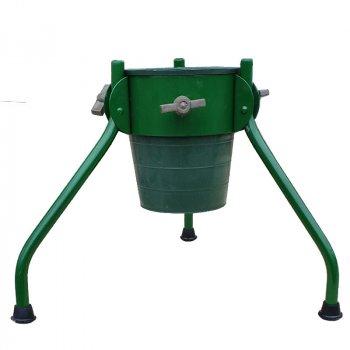 Складна підставка під ялинку з відром МеталлМастер «ПДЕ-2» Зелена