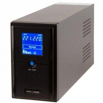 ИБП LogicPower LPM-UL825VA, Lin.int., AVR, 2 x євро, USB, LCD, метал