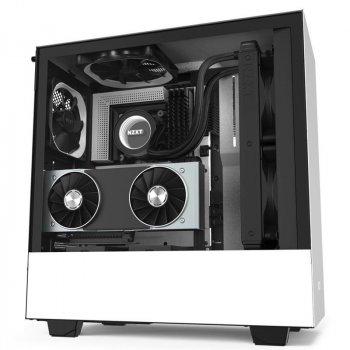 Корпус NZXT H510i Matte White-Black (CA-H510i-W1) без БЖ