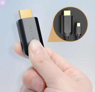 Адаптер-кабель Vention Type-C - HDMI 2 м Black (64619779/CGUBH)