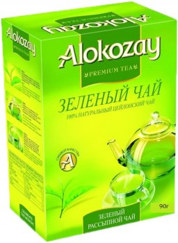 Упаковка зеленого листового чая Alokozay 90 г х 2 шт (4820229040702)