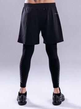 Тайтсы + шорты PEAK FW301441-BLA Черные