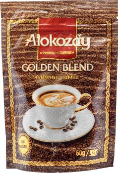 Упаковка кофе растворимого Alokozay сублимированного 60 г х 2 шт (4820229040689)