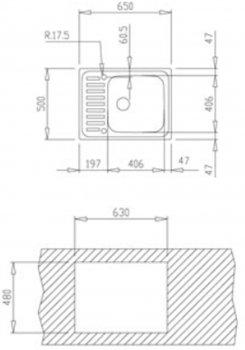 Кухонная мойка TEKA CLASSIC 1B полированная 30000056/10119070