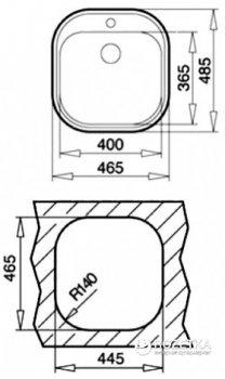 Кухонная мойка TEKA STYLO 1B 10107026 полированная + сифон со сливной арматурой 61001113