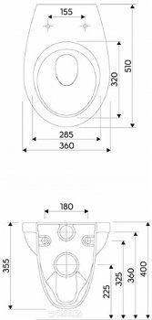 Унитаз подвесной KOLO IDOL M1310000U с сиденьем полипропилен