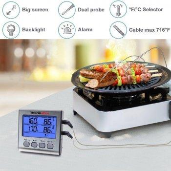 Термометр двухканальный для мяса Thermopro TP17 (-10C до +300C) с таймером и магнитом (mdr_2893)