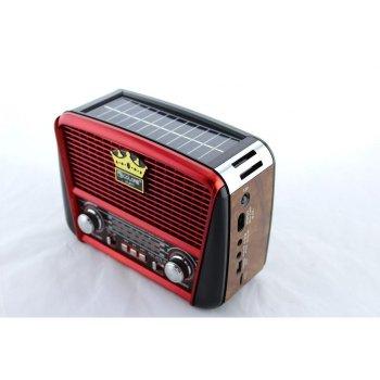 Радіоприймач Golon RX-455S з сонячною панеллю Червоний