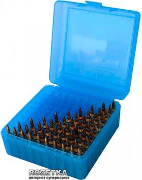 Коробка МТМ RS-100 для патронів 223 Rem 100 шт. Блакитний (17730469)