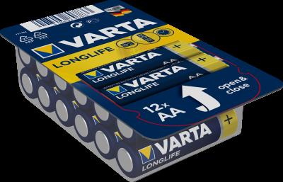 Батарейка Varta Longlife AA 12 Alkaline (04106301112) (4008496807833)